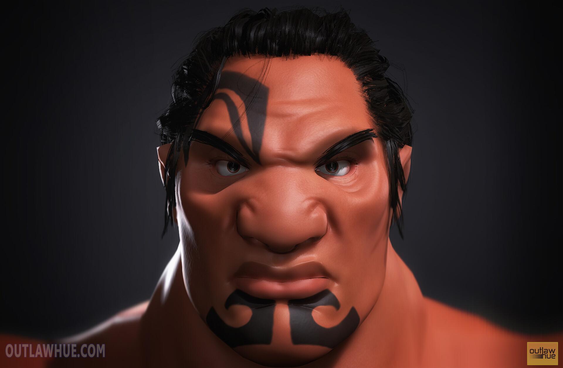 Headshot rendered in Marmoset Toolbag