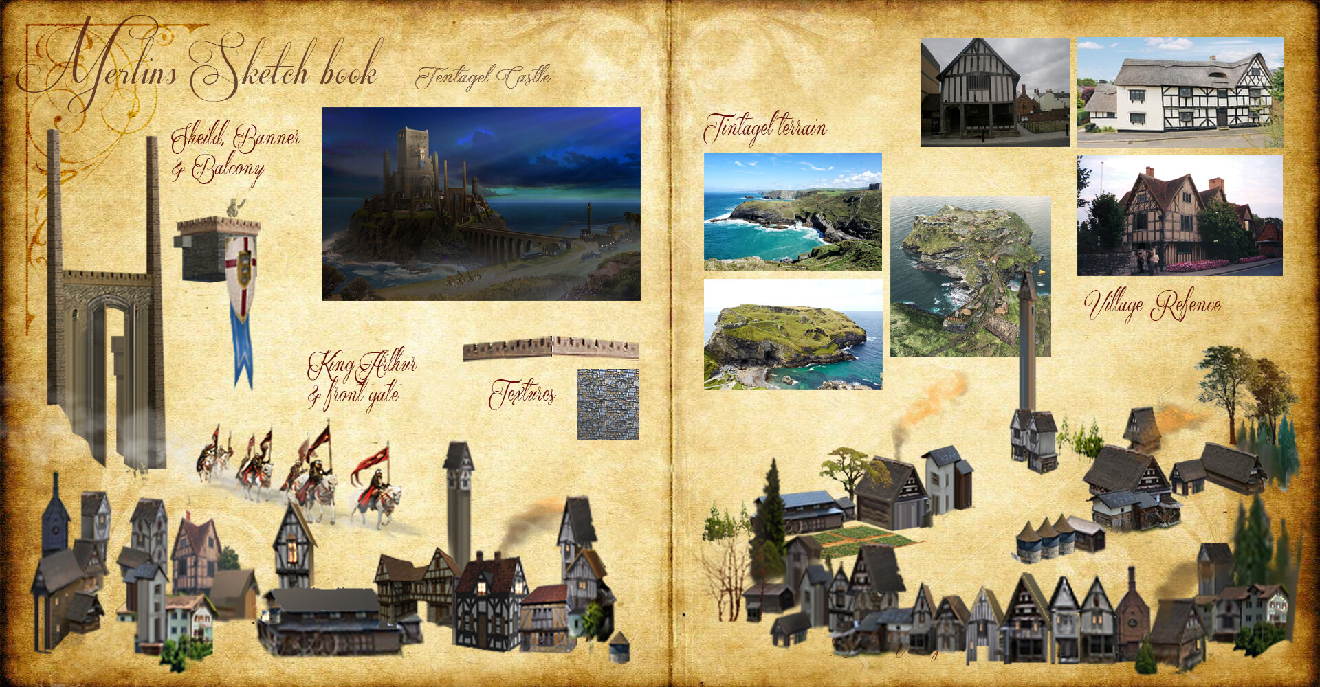 Castle Tintagel Call outs page