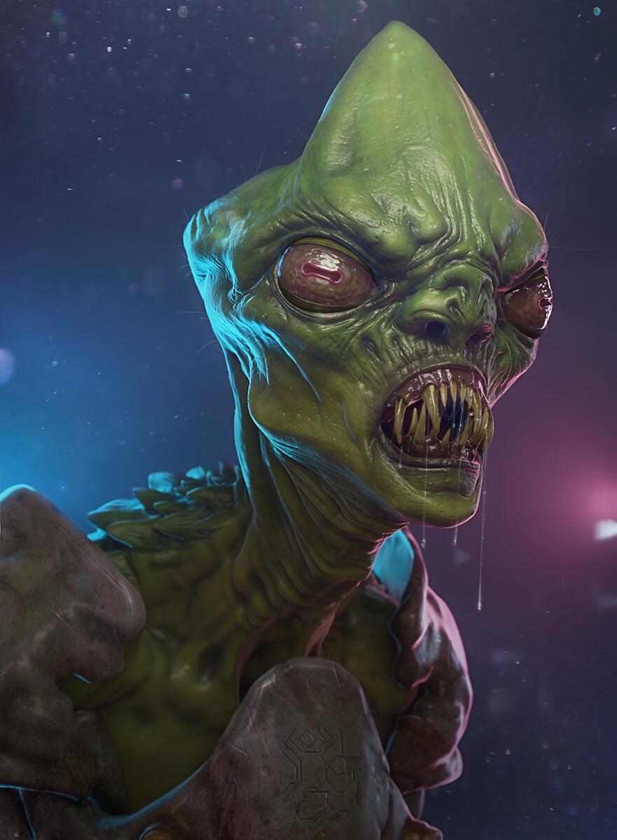 ArtStation - Alien - Blender Eevee, Tarek Samaan