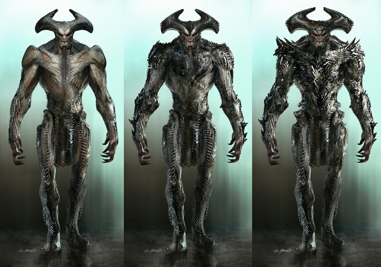 Steppenwolf Concept Art for Batman Vs Superman and Justice League