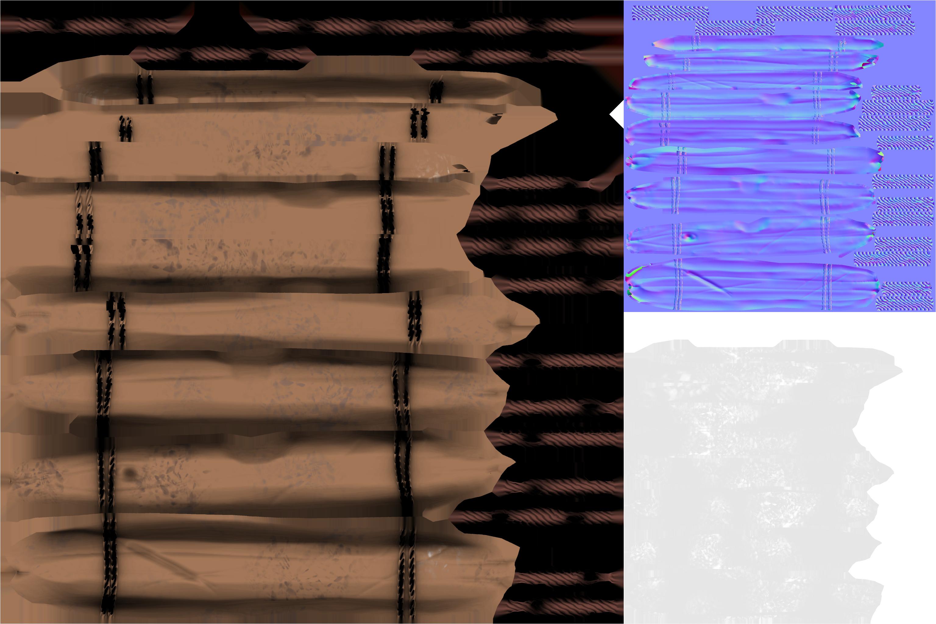 Door albedo, normal, and roughness maps