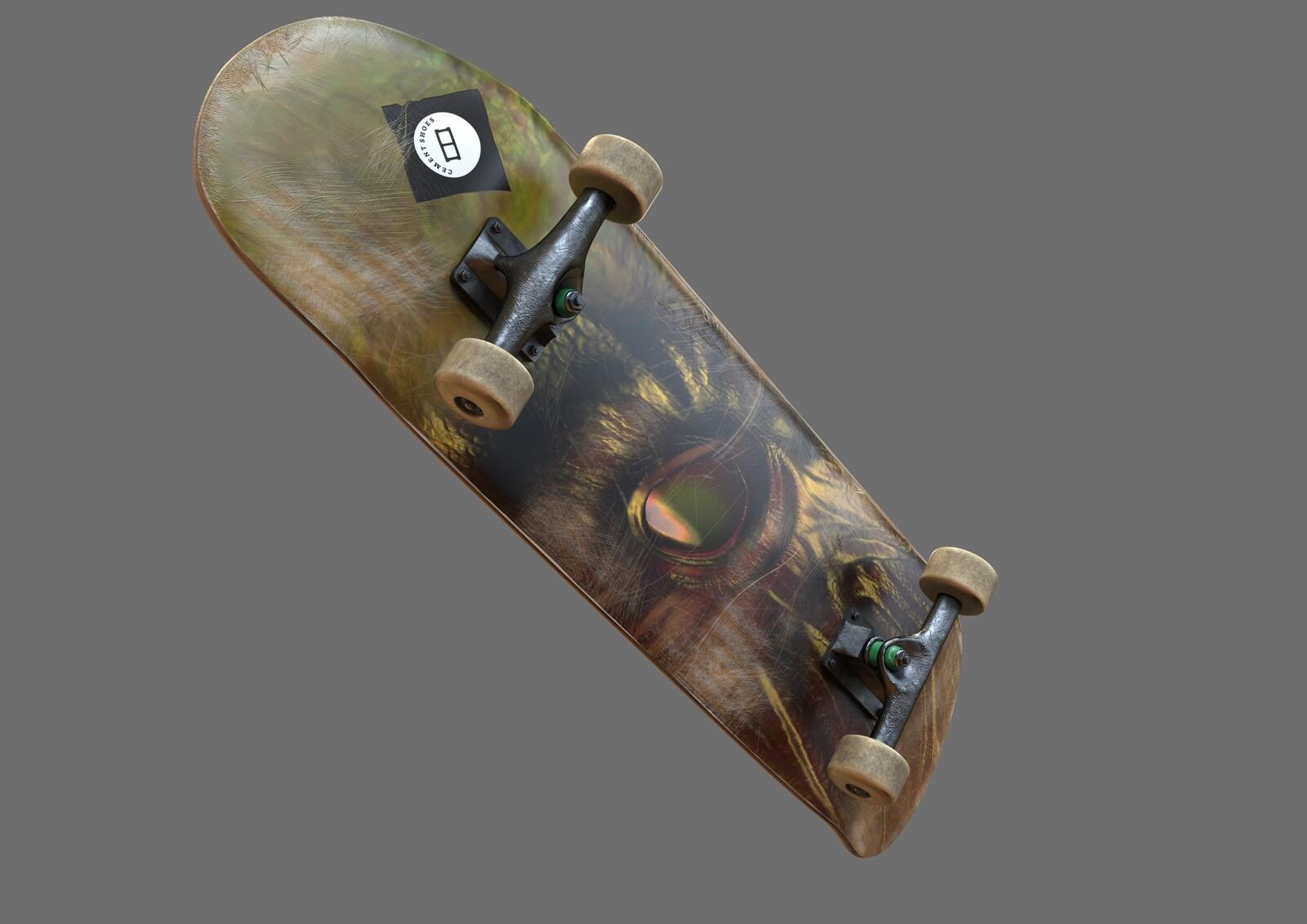 Skateboard Game Asset