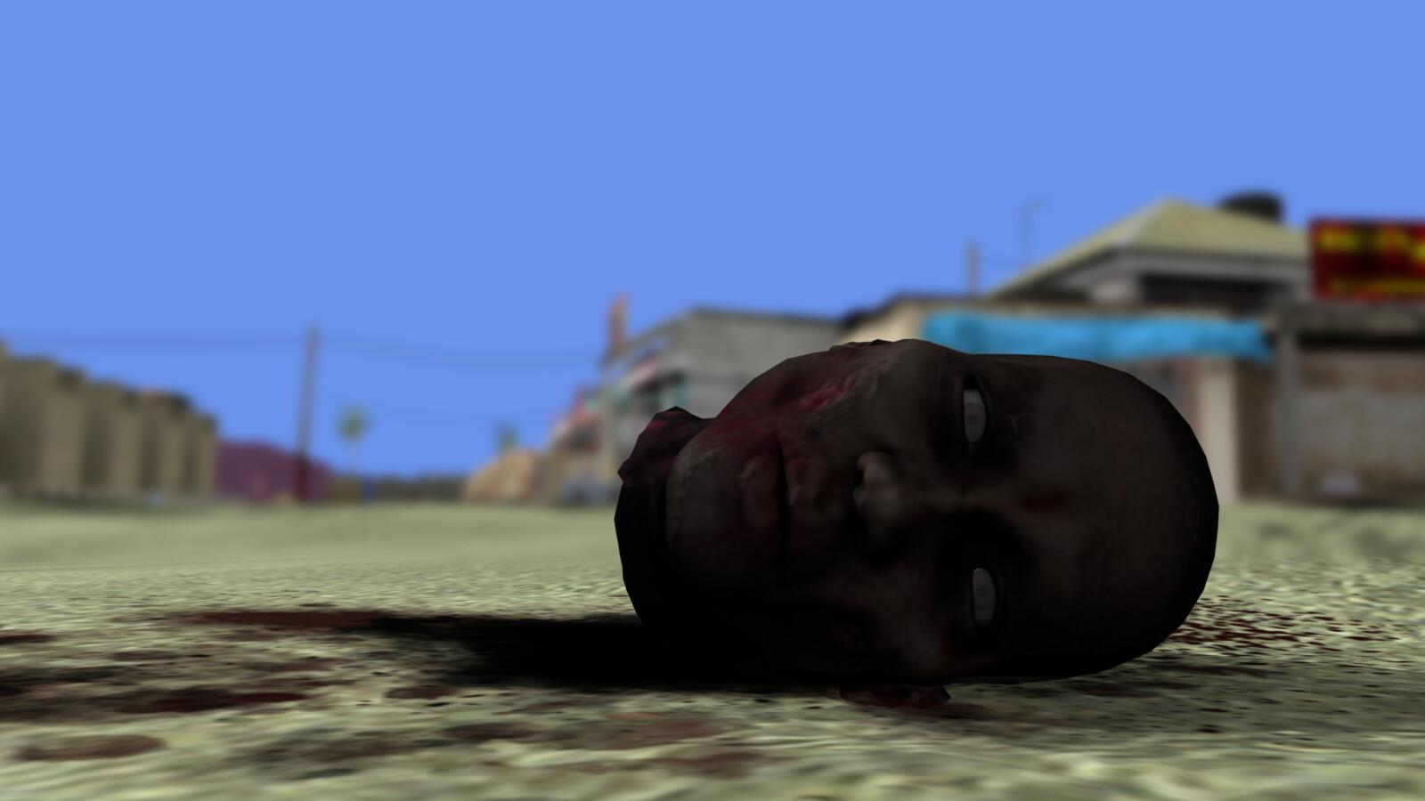 Construction zombie head