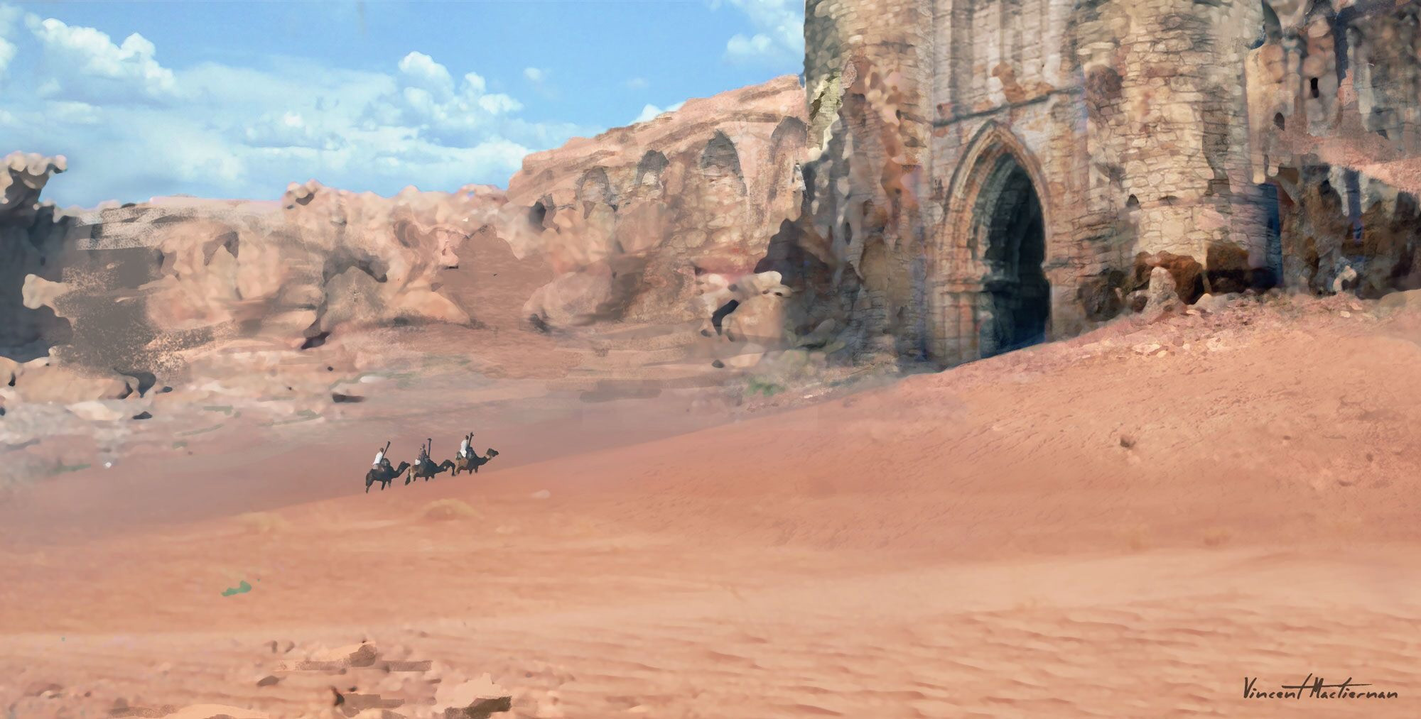 Arriving at the Catacomb of the Desert King