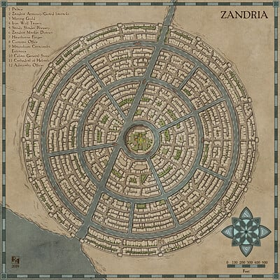 Robert altbauer zandria fantasy map