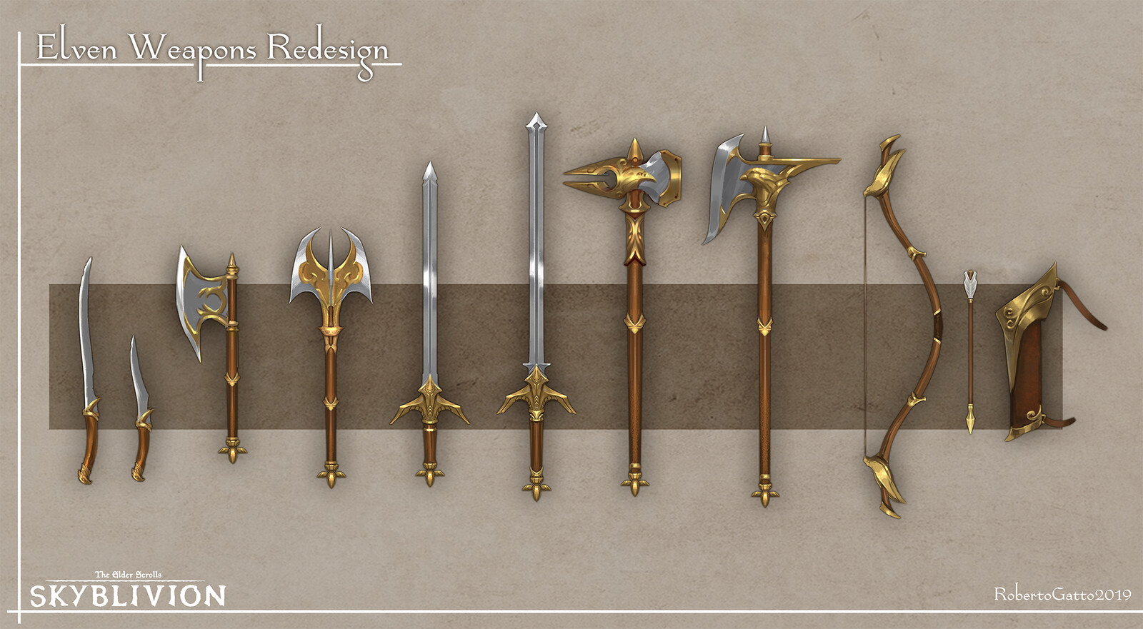 Skyblivion - Elven weapon set redesign