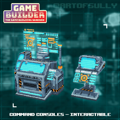 Command Consoles - Interactable (asset for 'Game Builder')