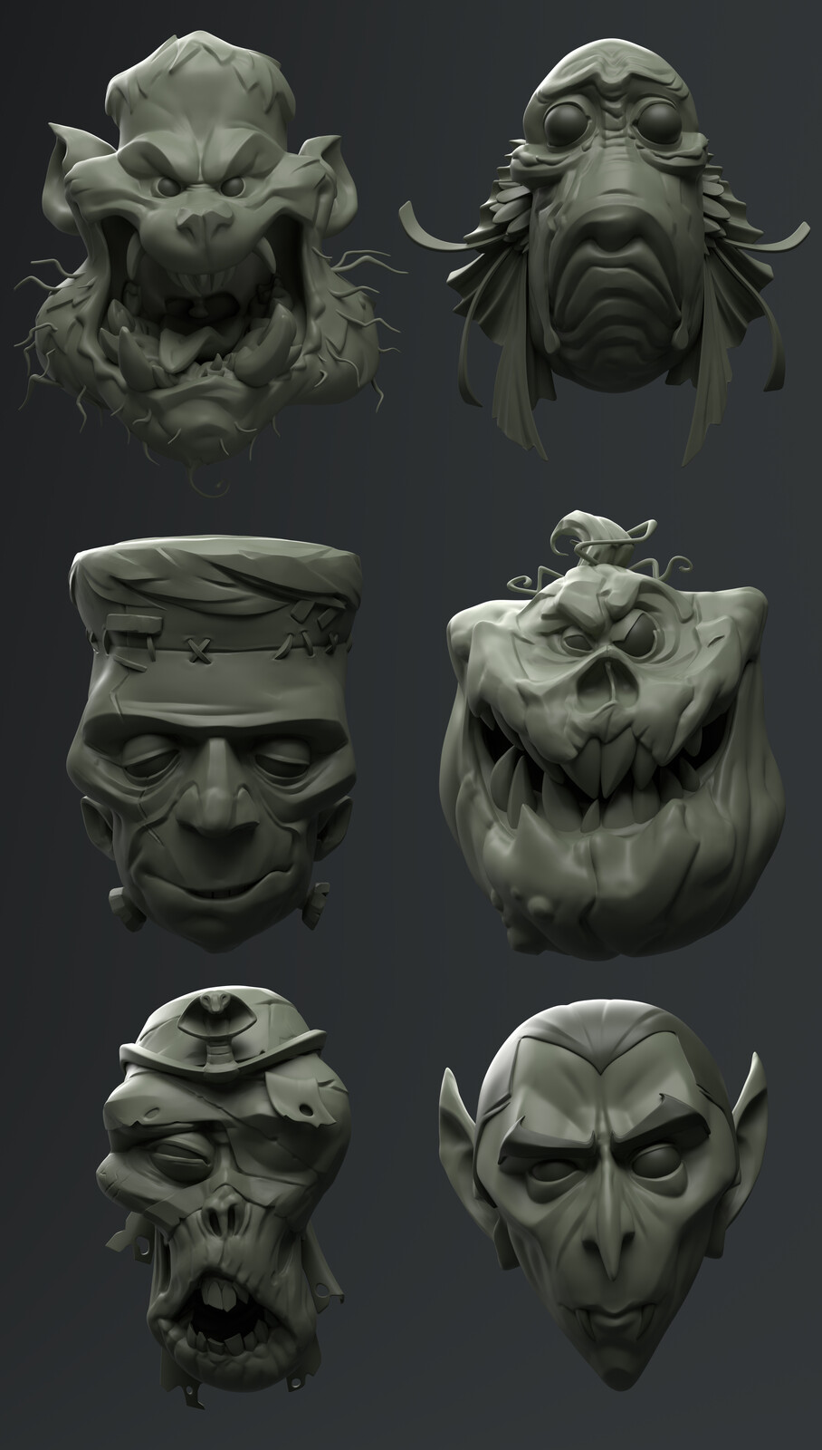 Wall of Monsters  - Sculpt