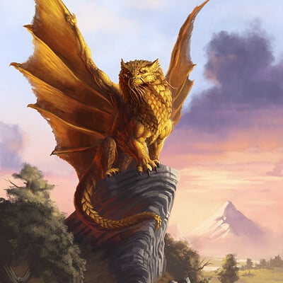 Bruno cesar gold dragon