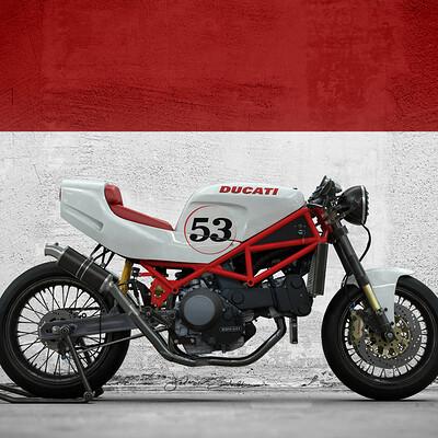Federico zimbaldi ducati 888 cafe racer b 498