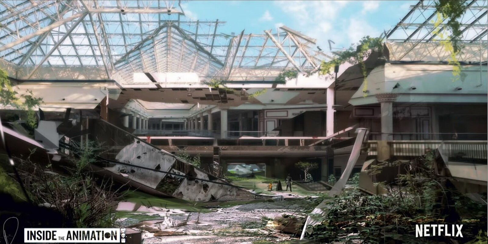 Concept for Mall published in Inside the Animation bts series