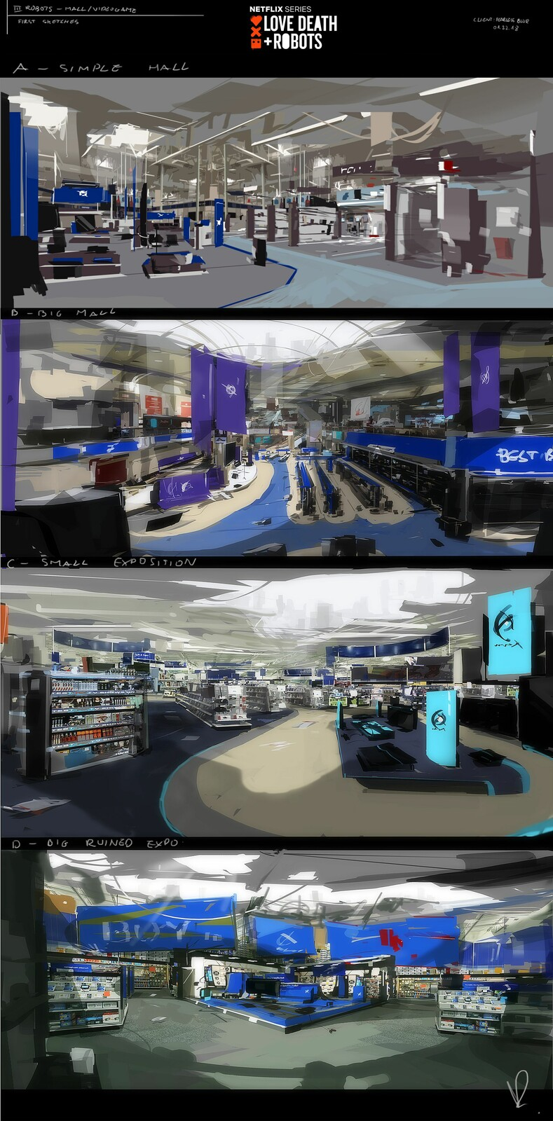 Mall alleys concepts sketches- early ideas