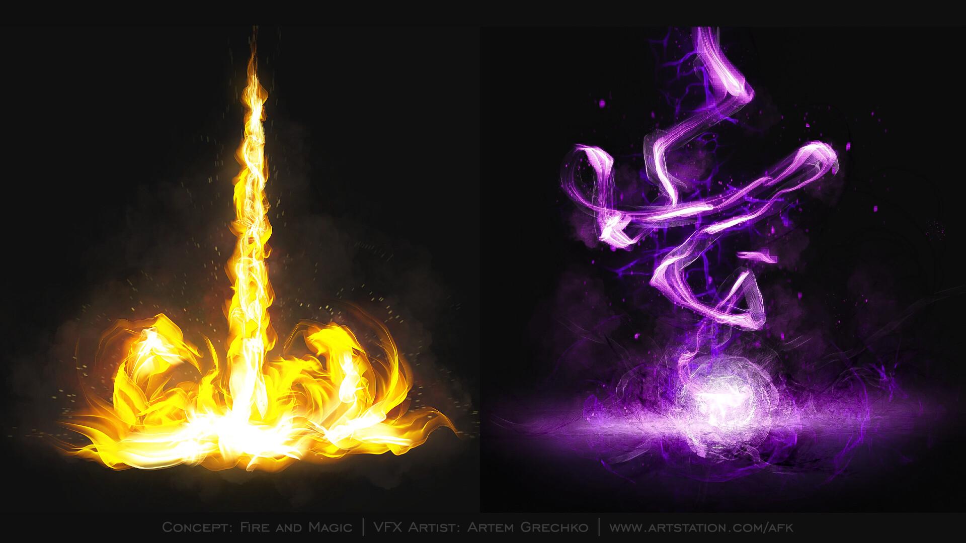 ArtStation - VFX Concept Fire and Magic, Artem Grechko