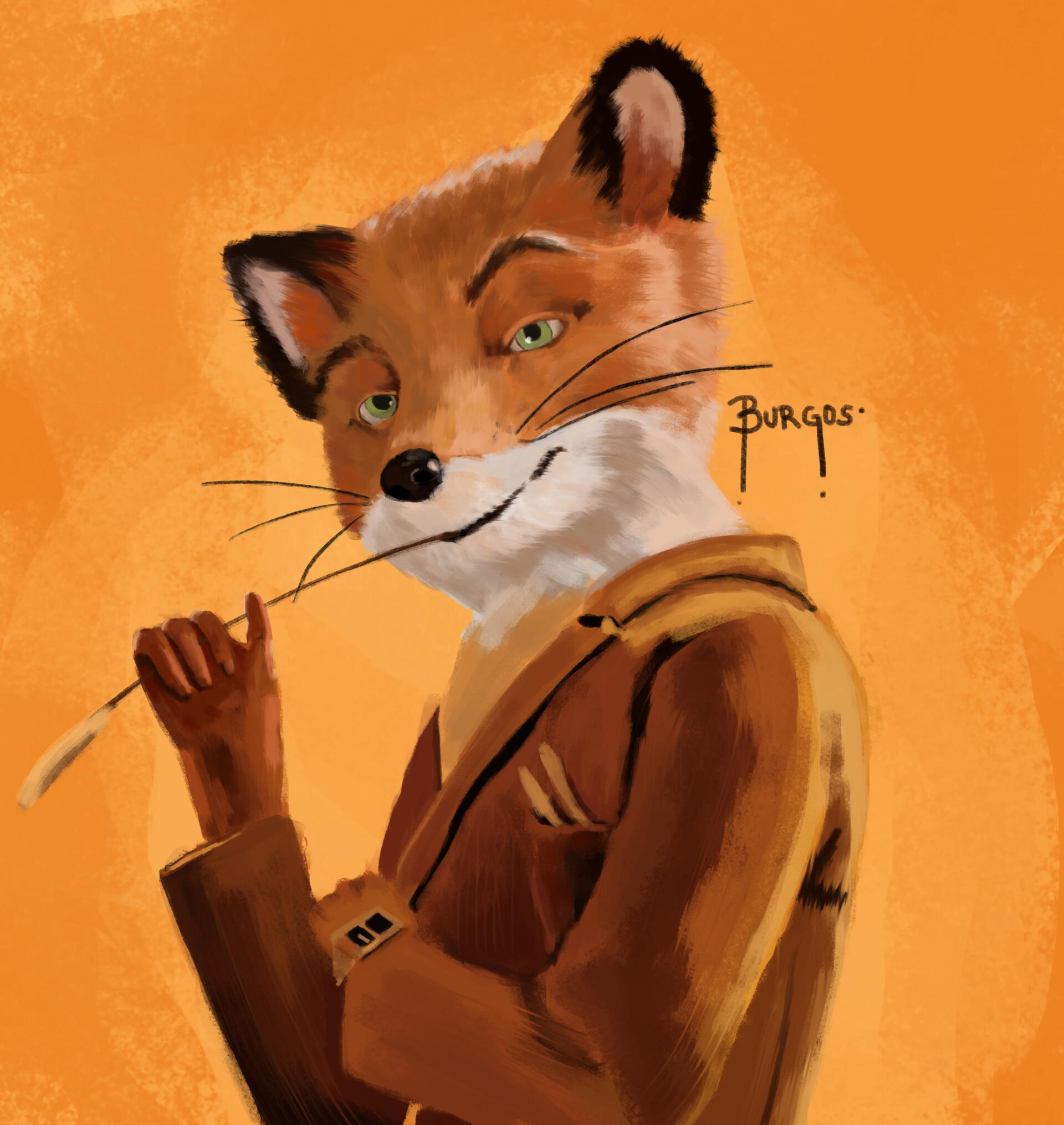 Artstation Day 18 Fantastic Mr Fox Painting Practice Diana Burgos
