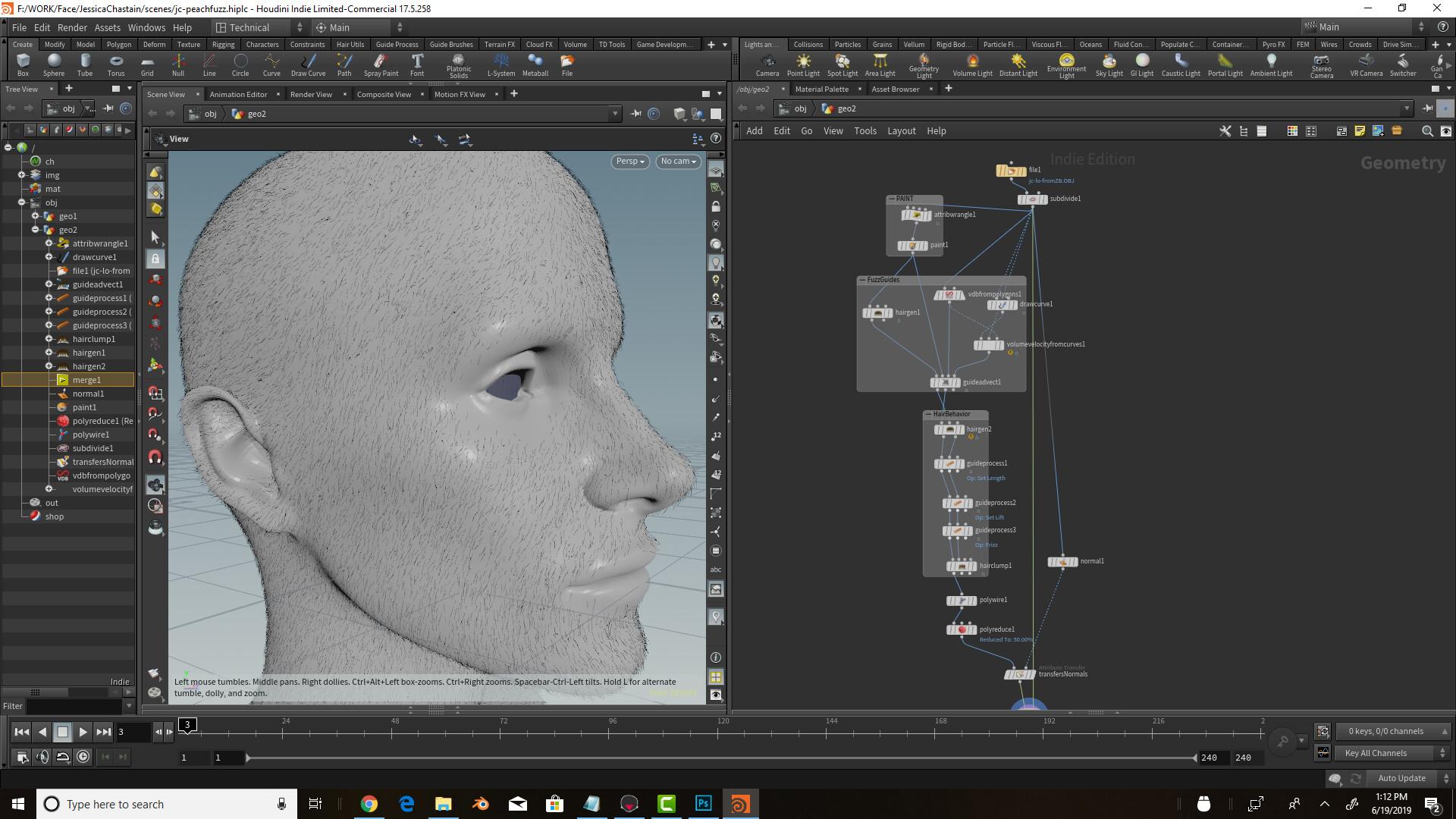 Artstation Peach Fuzz In Houdini For Digital Portrait Game Art Institute
