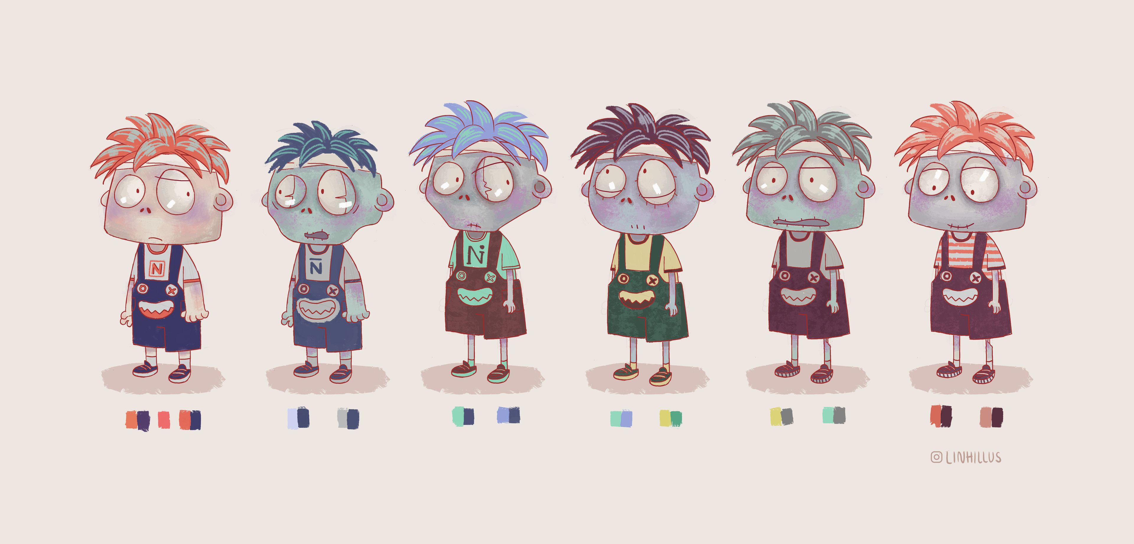 Some early character development for children story book.