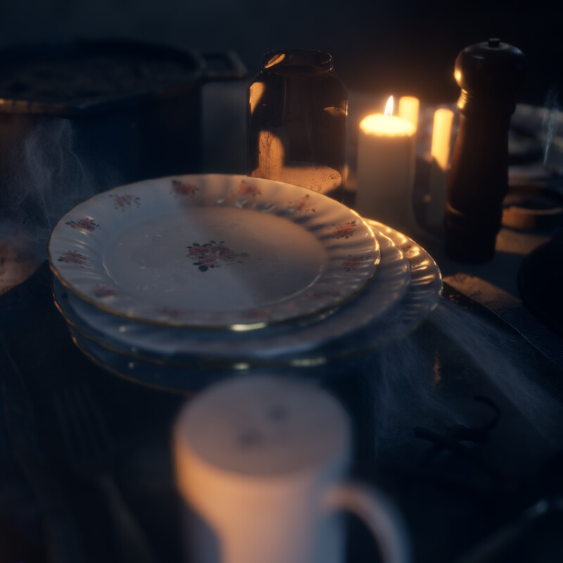 Horror Dining Room (For UE4 and Unity)
