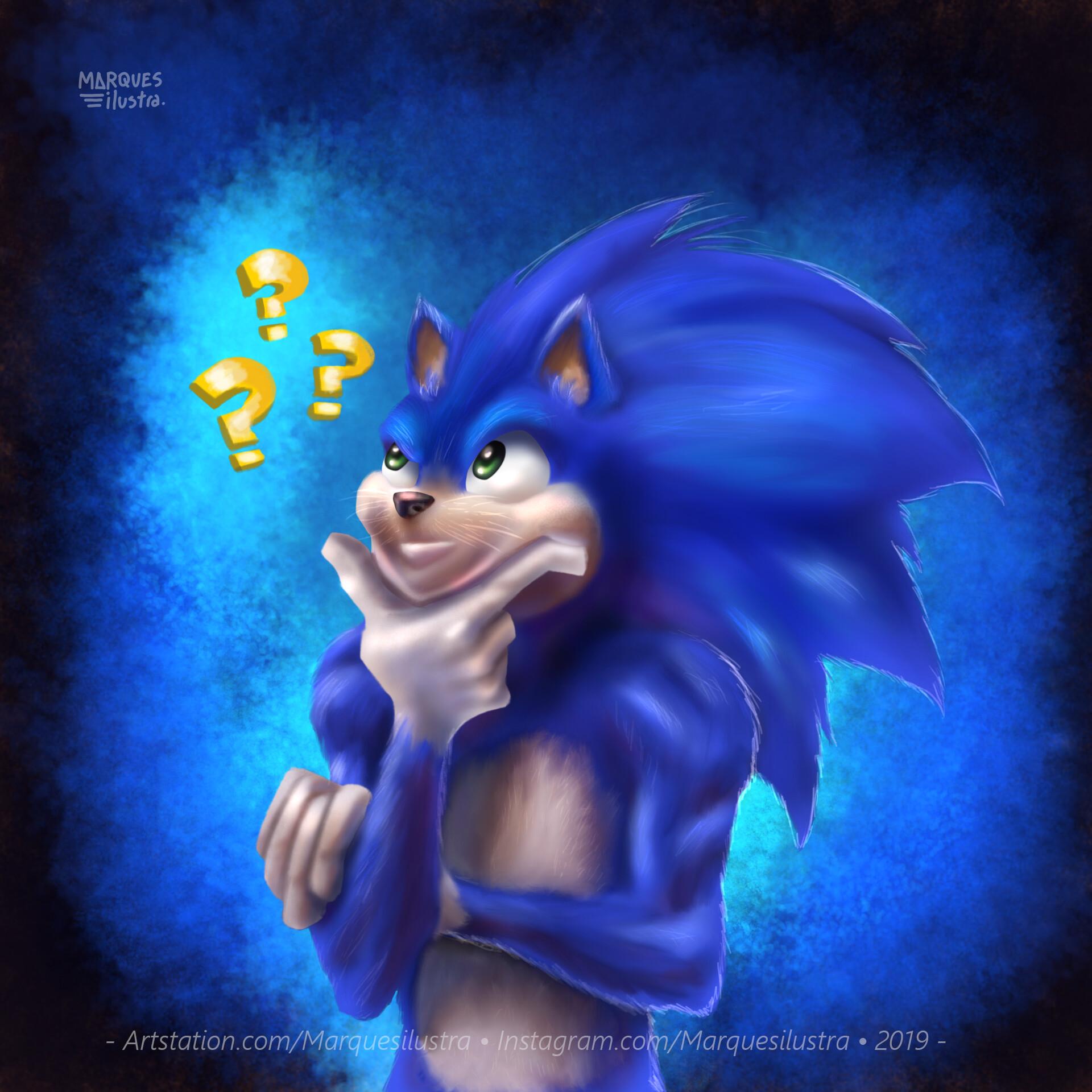 Artstation My Interpretation Of Sonic In Live Action Marques Ilustra