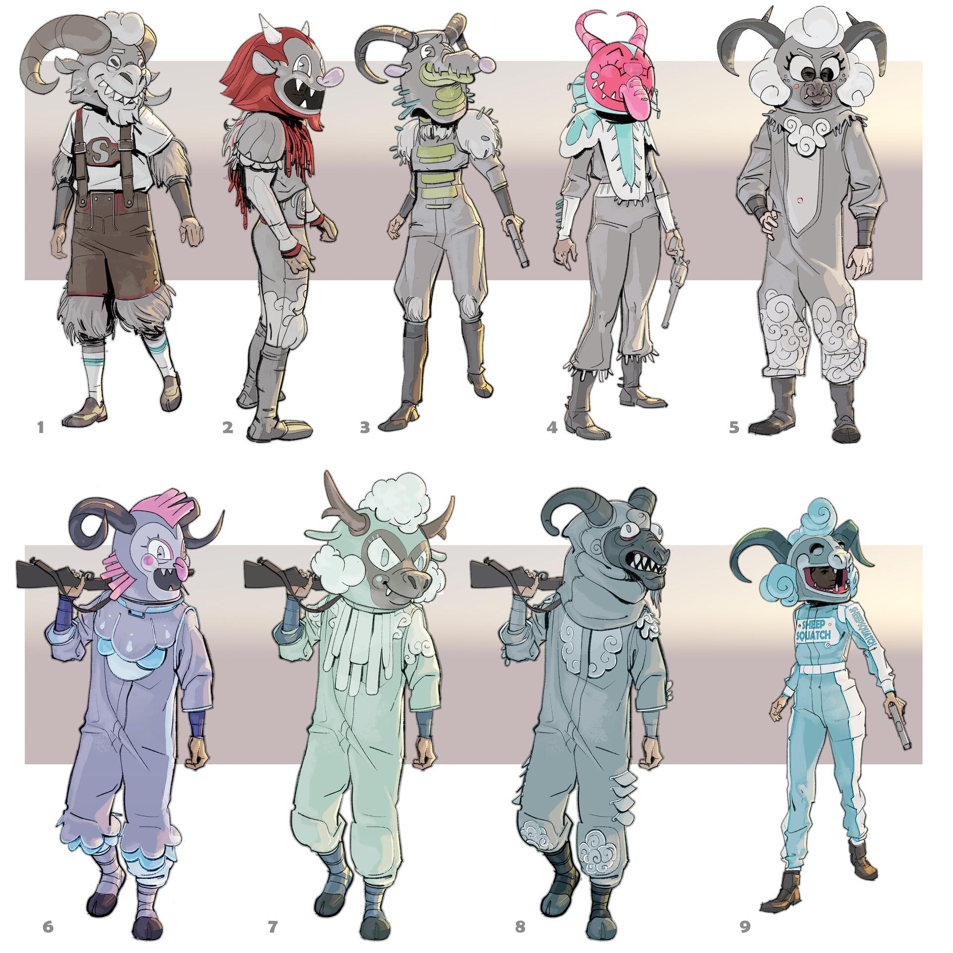 Chris ortega sheepsquatch mascot outfit1b