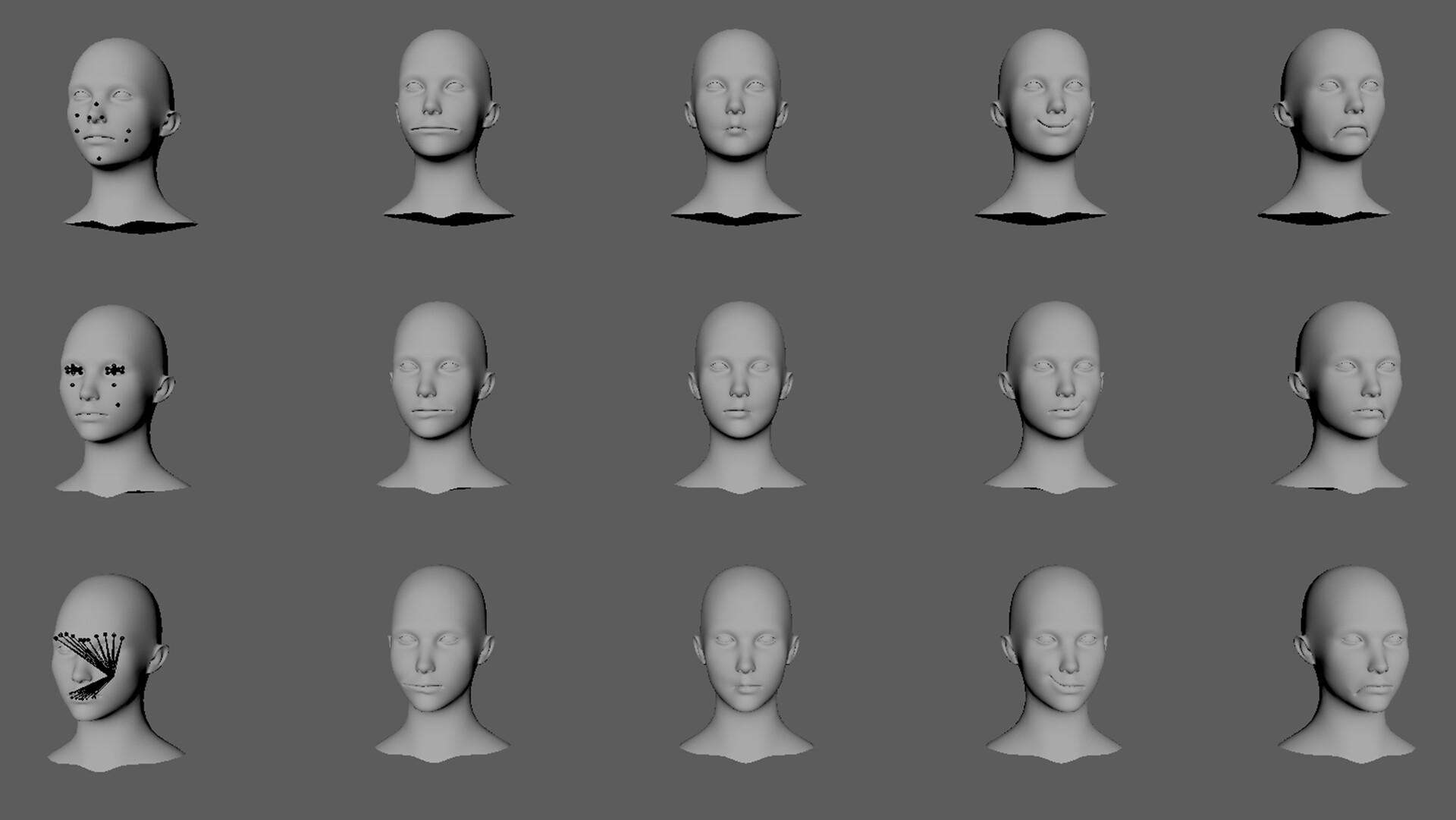 Blendshape Heads