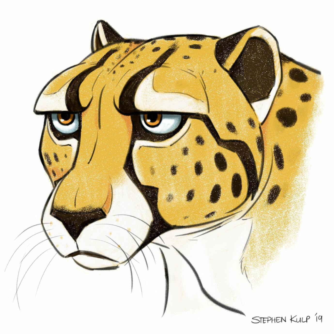 Stephen kulp cheetah sketch 4