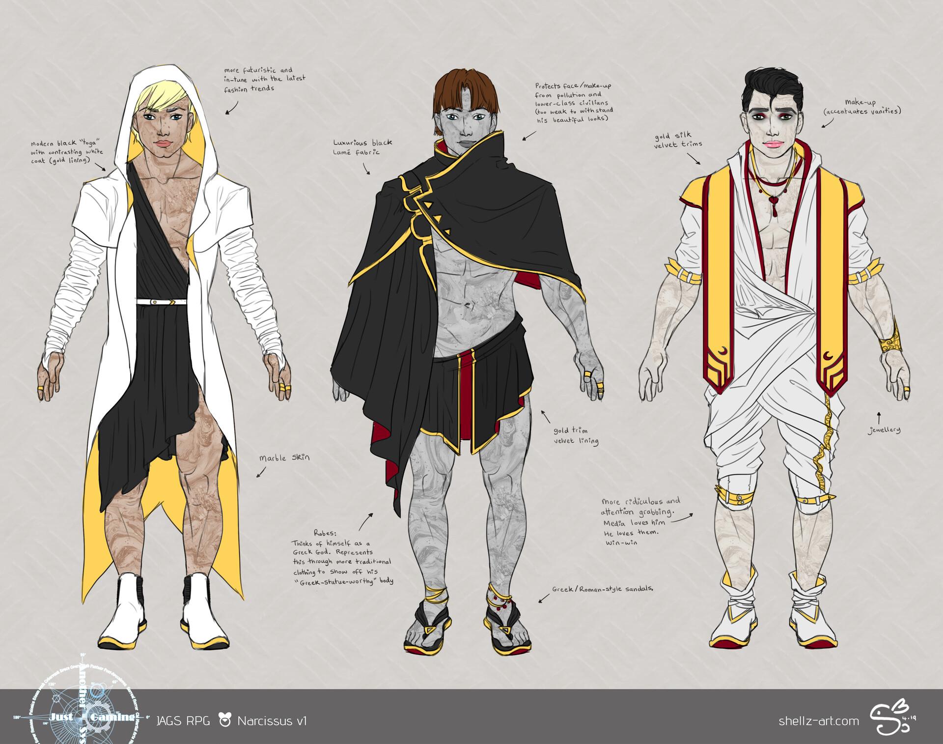 Shellz art concepts narcissus v1