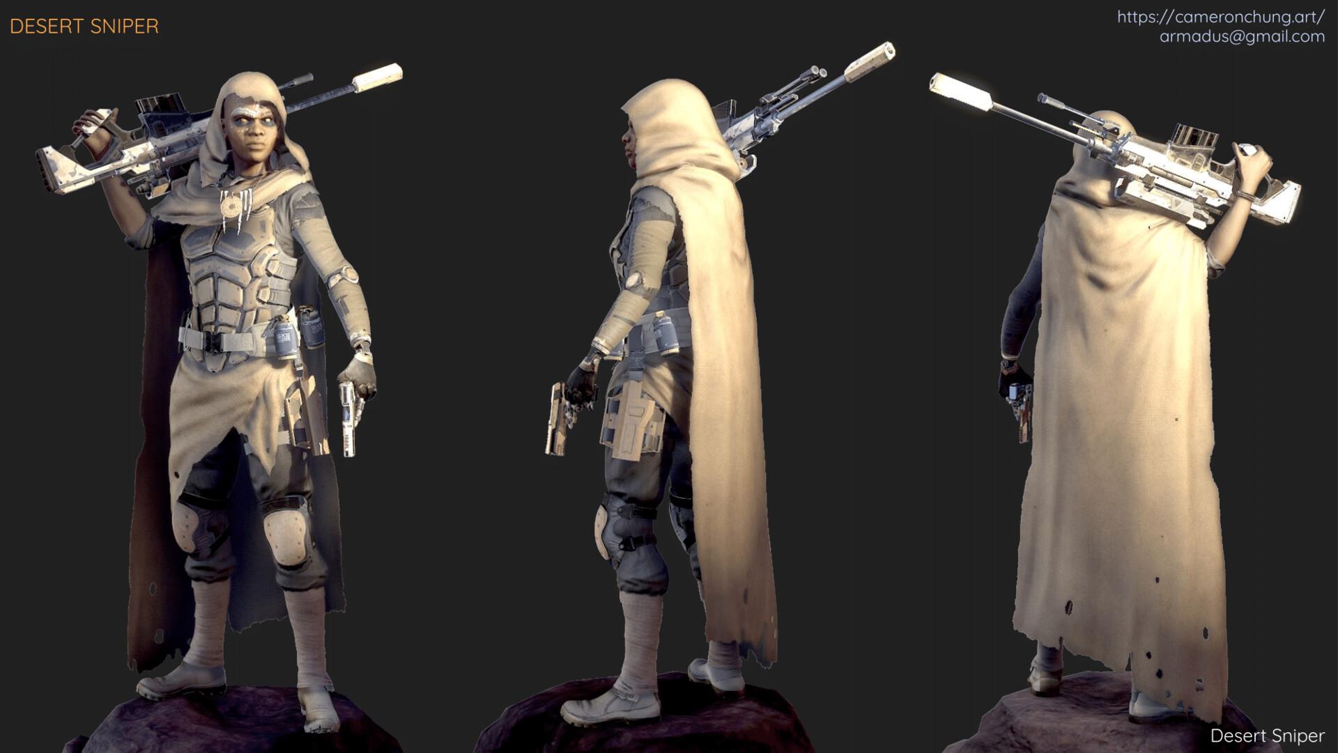 Desert Sniper - Marmoset Toolbag 2