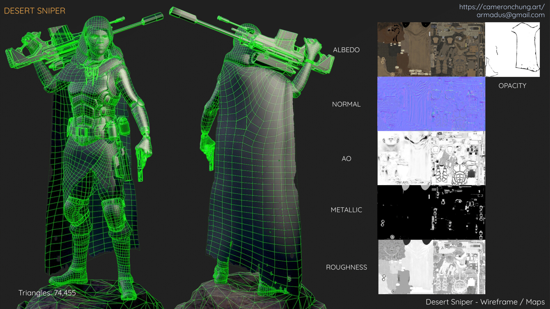 Desert Sniper - Wireframe / Maps