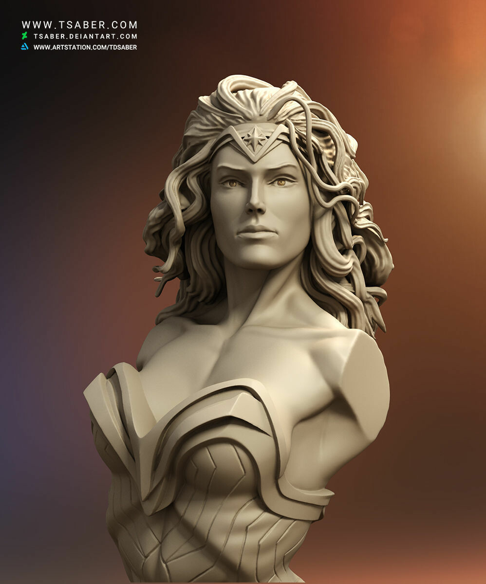 Taregh Saber - Wonder Woman Bust