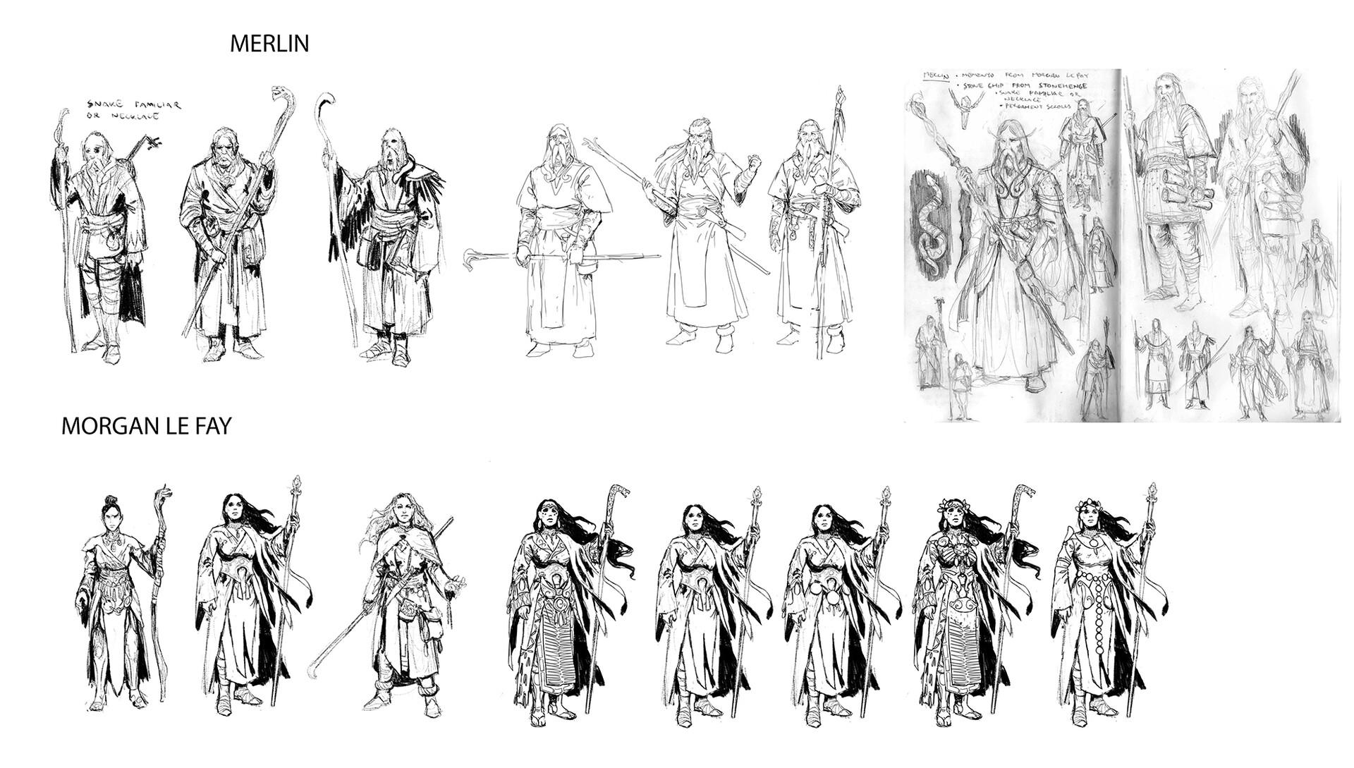 Veli nystrom artstation king arthur character sketches3
