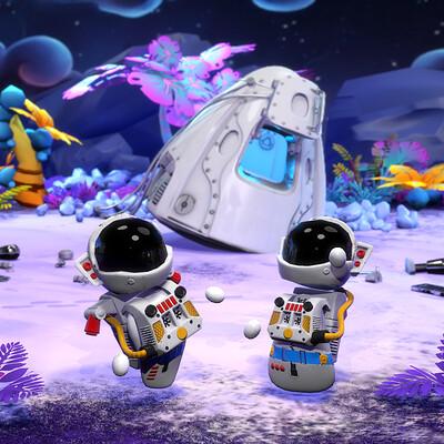 Vlada romaieva shuttle rendering for artstation2