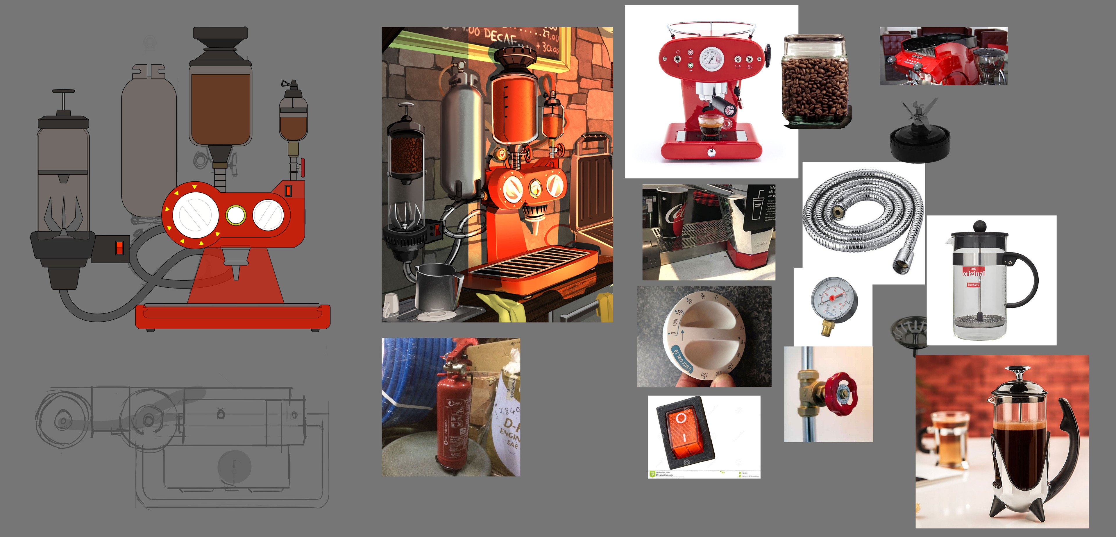 Material Ref for Coffee Machine