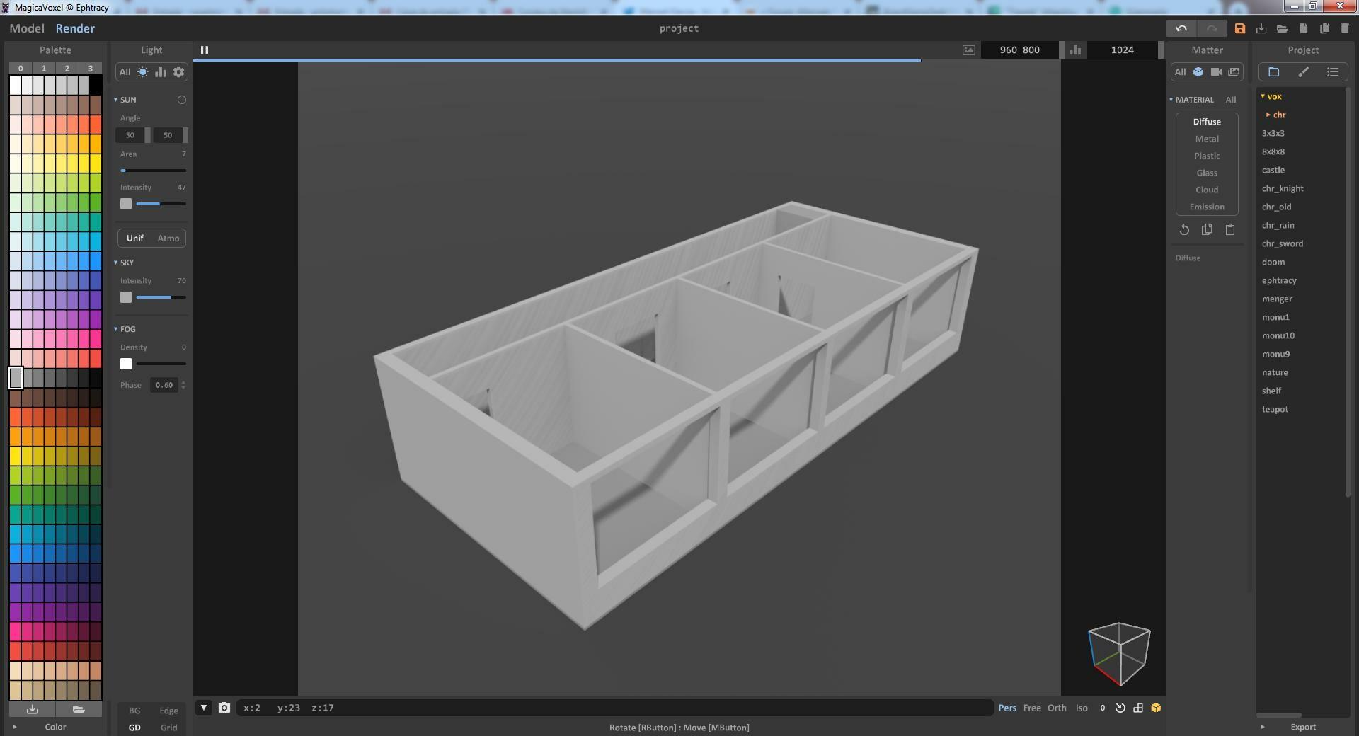 Modelling floor