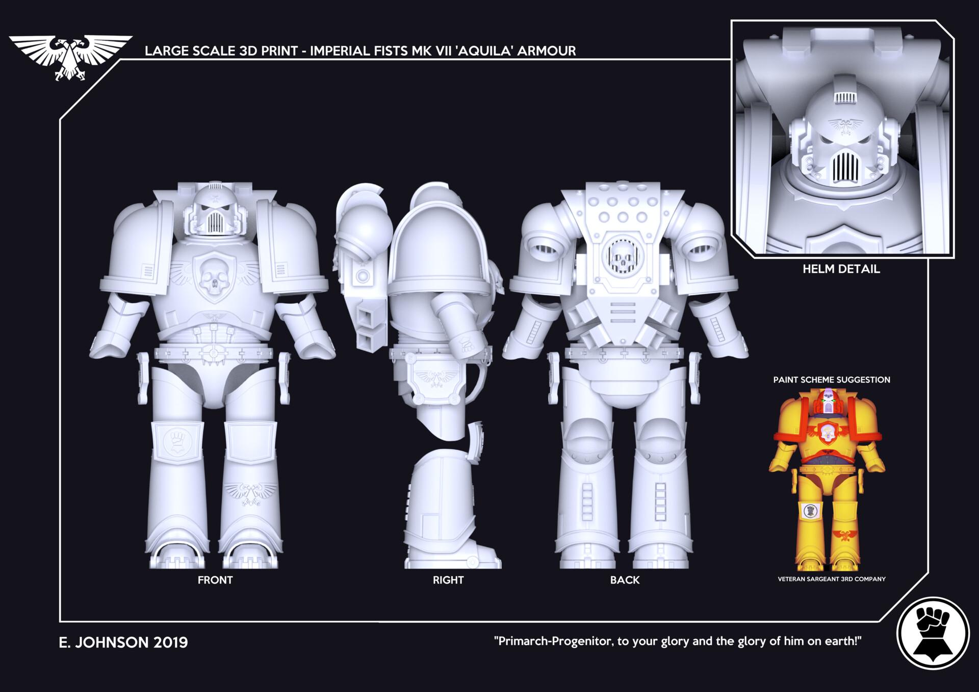 Em Johnson - Space Marine Armour - Large Scale 3D Print Project