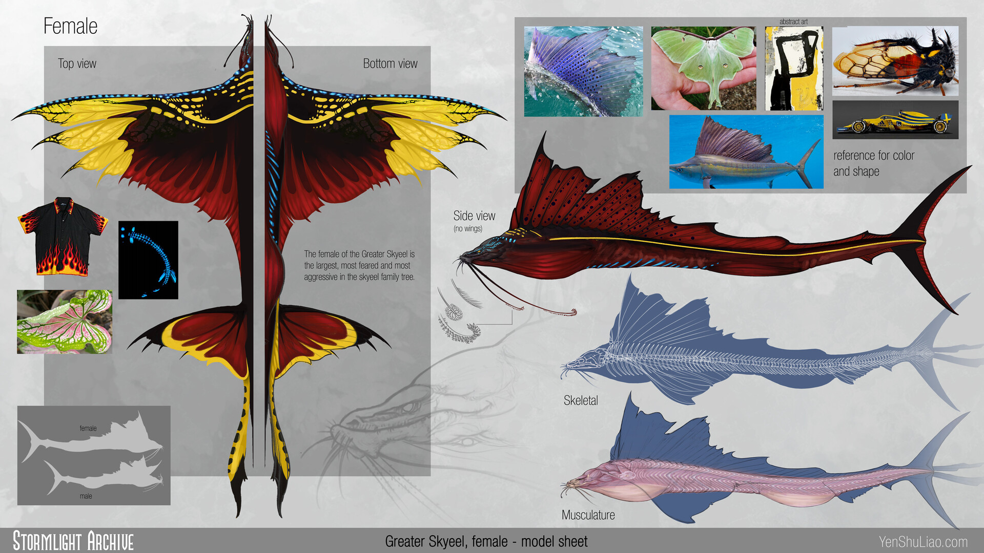 Yen shu liao stormlightarchive skyeel greater creature concept orthof yen shu liao