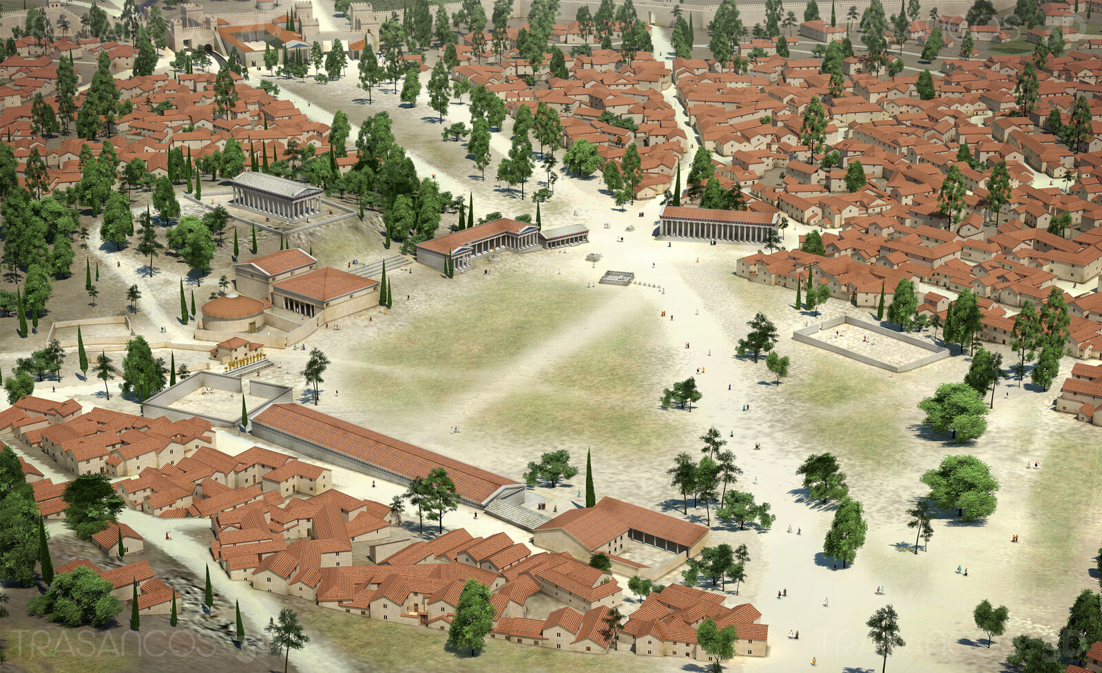 View over the ancient Agora of Athens. Modeled in collaboration with: - Andrés Armesto - Diego Blanco