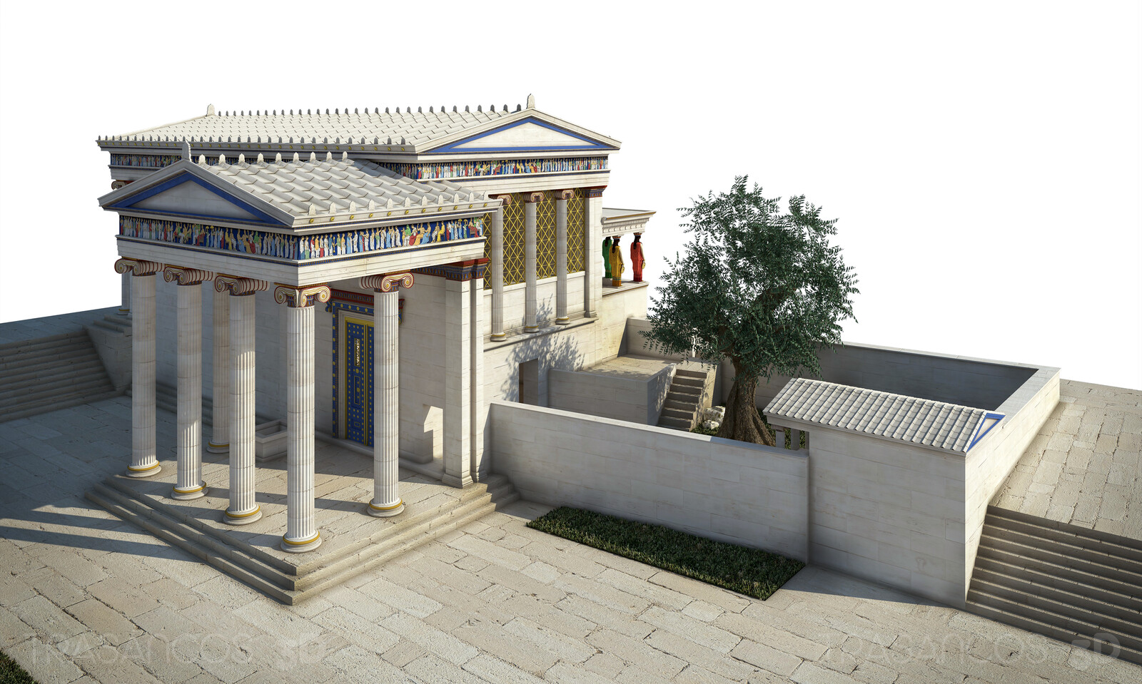 Reconstruction of the Erectheion in Athens. Modeled in collaboration with: - Diego Blanco