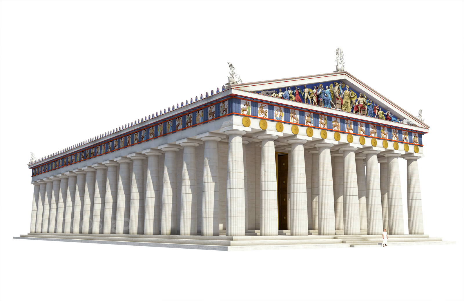 Reconstruction of the Parthenon in Athens.