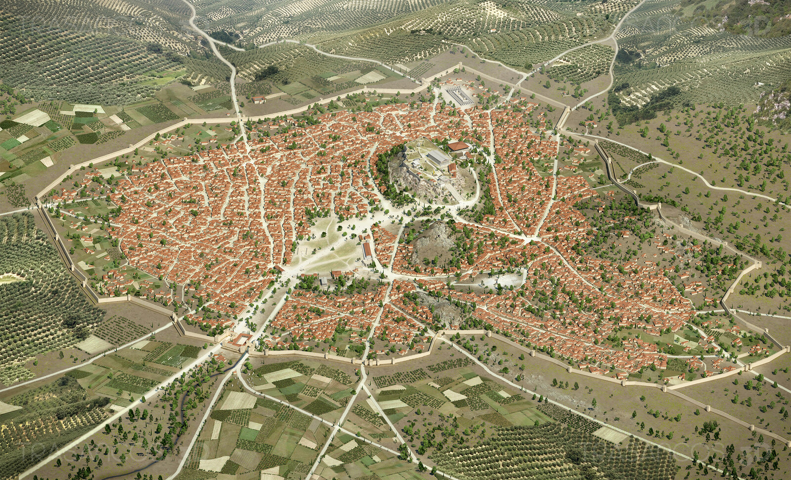 General view of Athens in The time of Pericles. Modeled in collaboration with: - Andrés Armesto - Alejandro Soriano - Carlos Paz - Diego Blanco