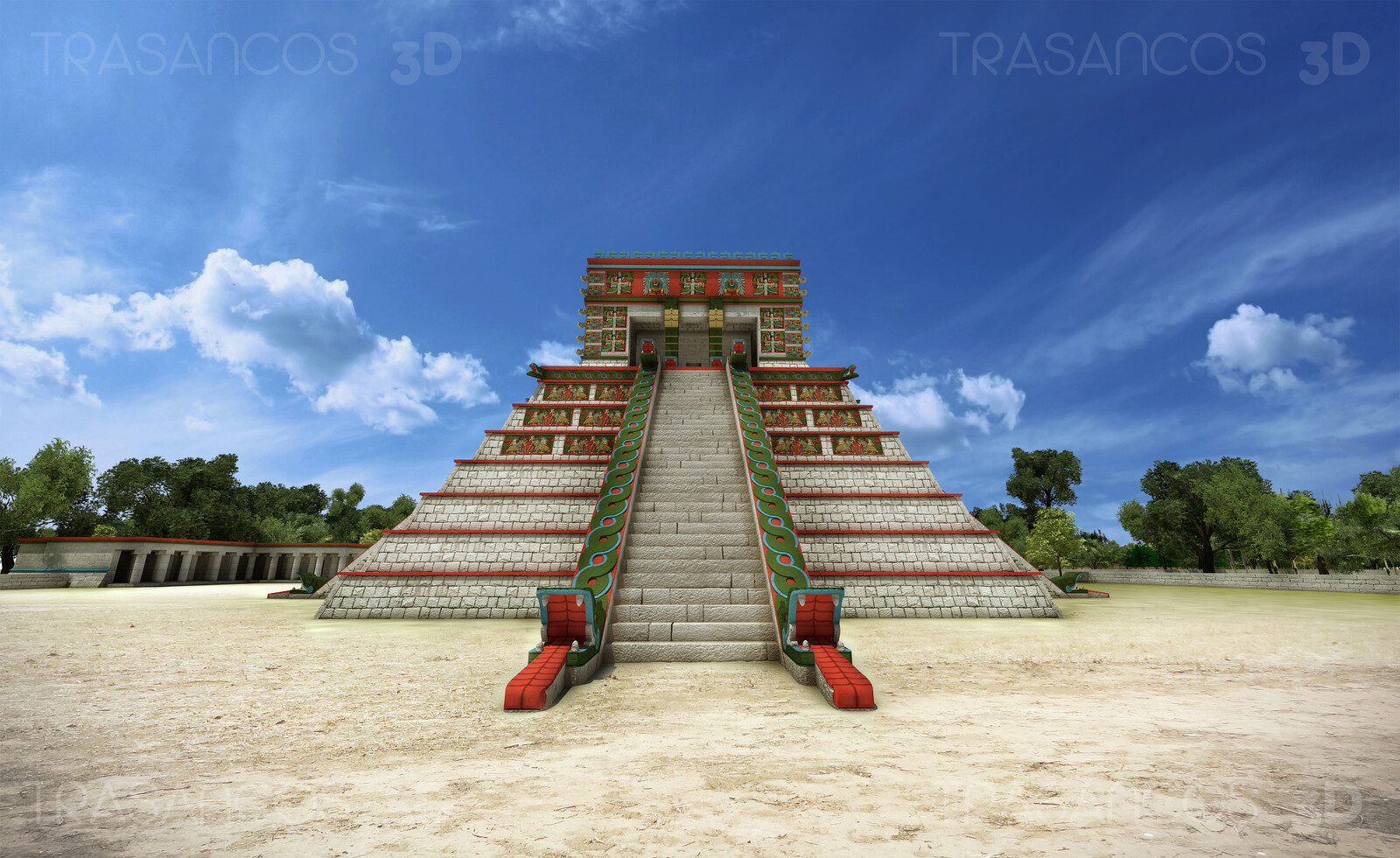 Osario pyramid in Chichen Itza. Modeled in collaboration with: - Andrés Armesto