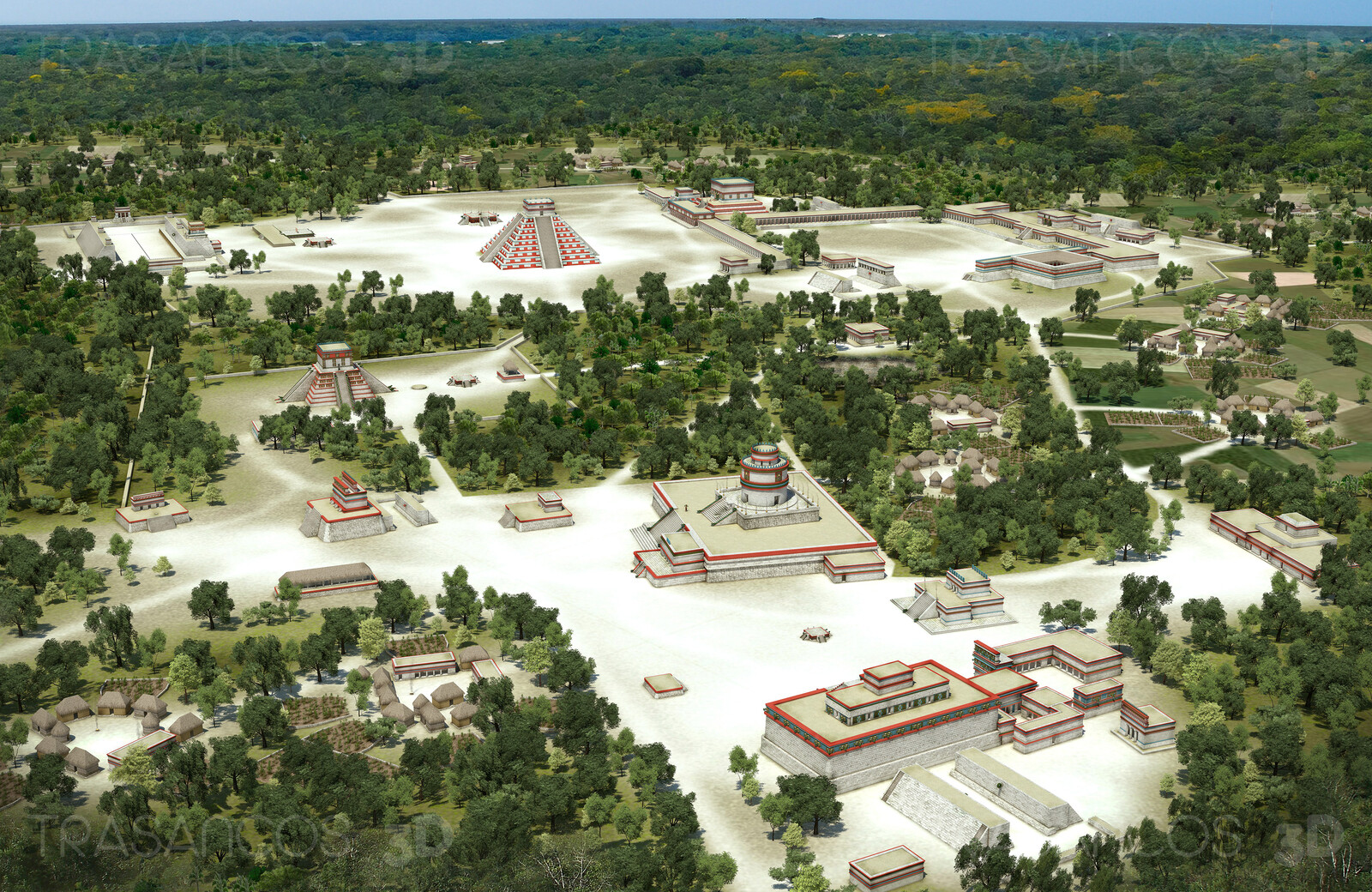 View of the reconstructed mayan city of Chichen Itza. Modeled in collaboration with: - Andrés Armesto - Alejandro Soriano - Carlos Paz - Diego Blanco