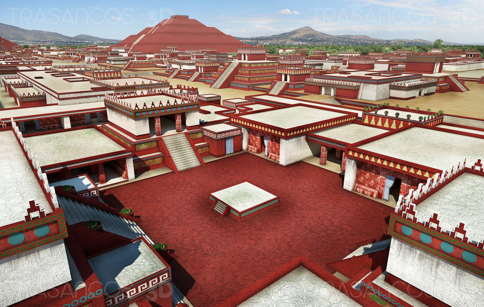 View oh Tehotihuacan over the  West Square. Modeled in collaboration with: - Andrés Armesto - Carlos Paz