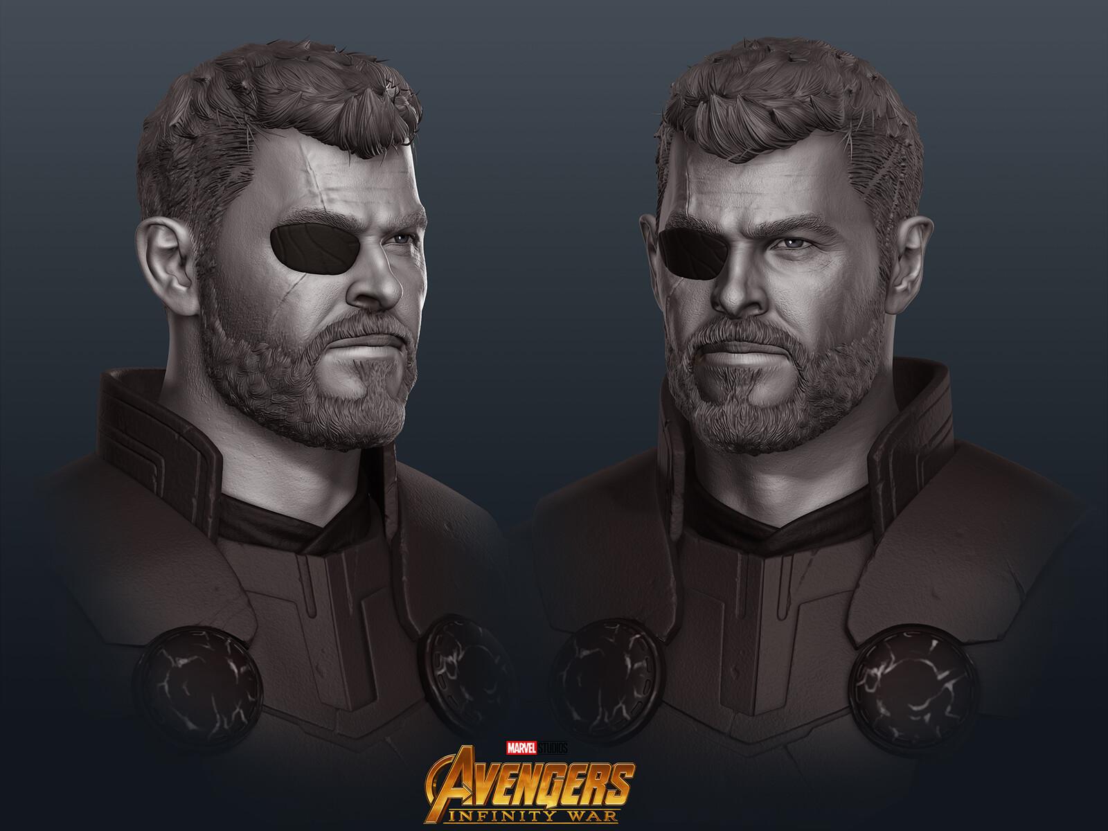 Avengers Infinity War Thor Chris Hemsworth Fanart
