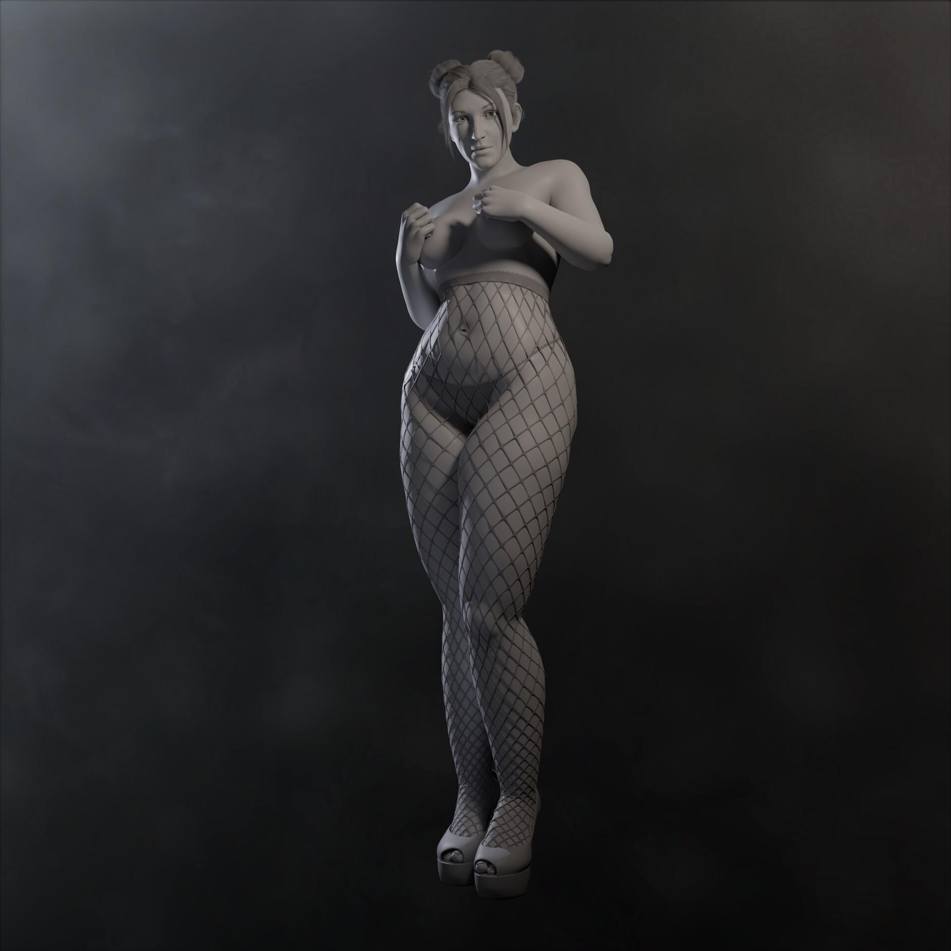 Sergi camprubi clay render 01