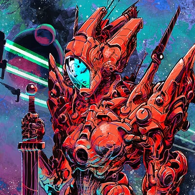 Atom cyber cosmic knigt