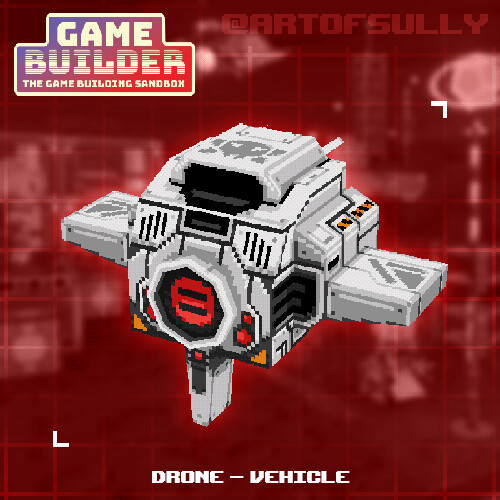 Drone - Vehicle (asset for 'Game Builder')