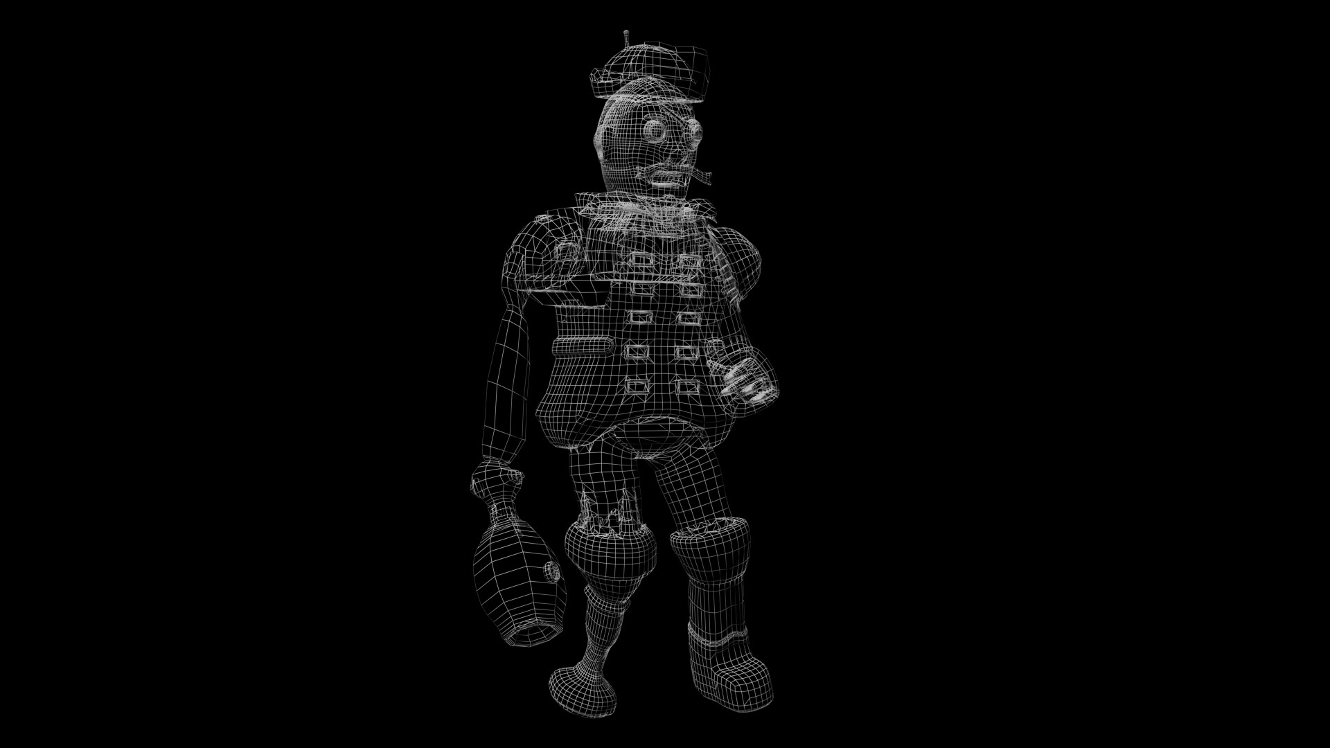James skinner pirate captain wireframe