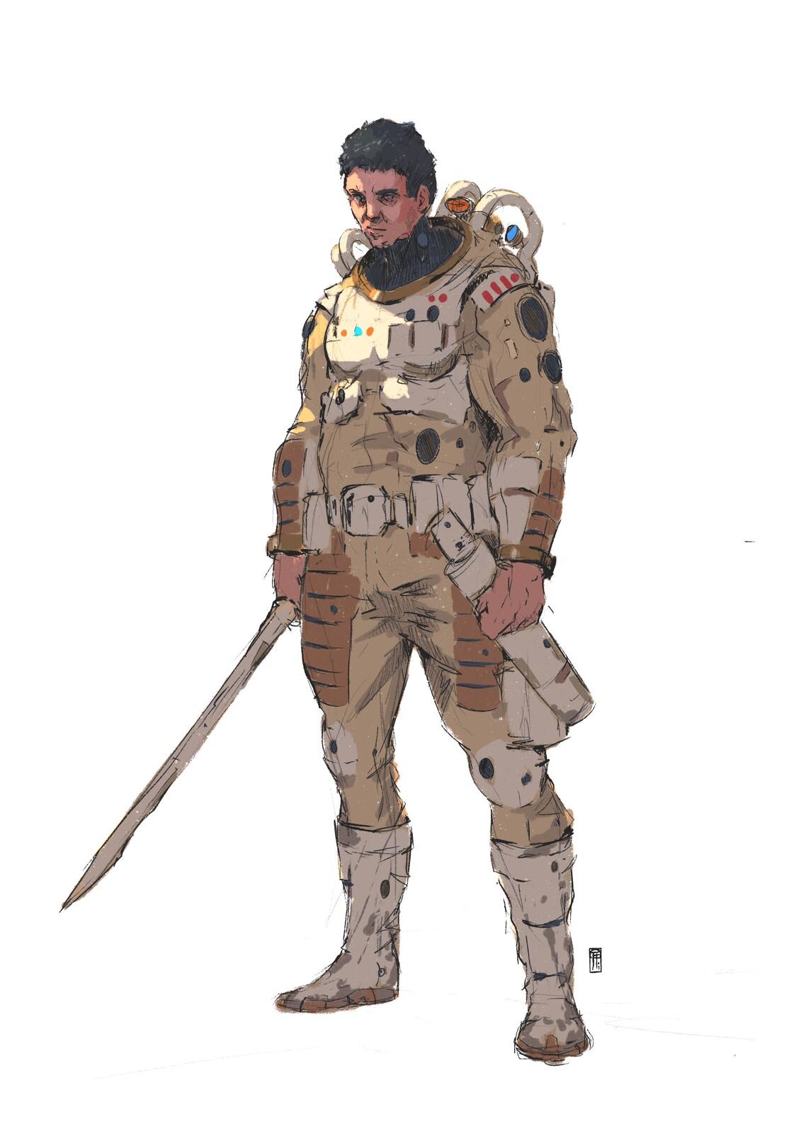 Space dude sketch