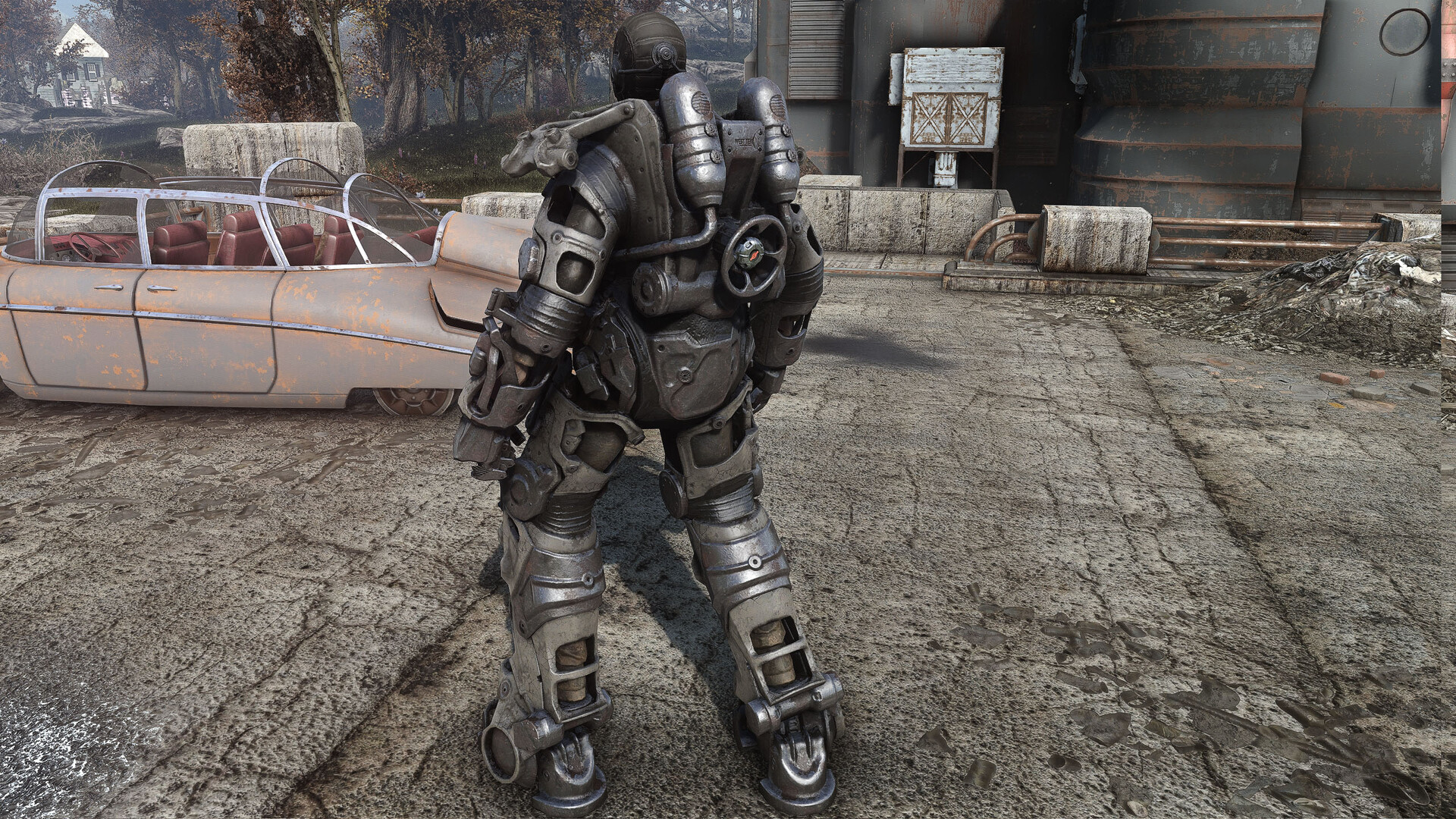 Artstation Fallout 4 Power Armor Frame Retexture Dorian Pillari