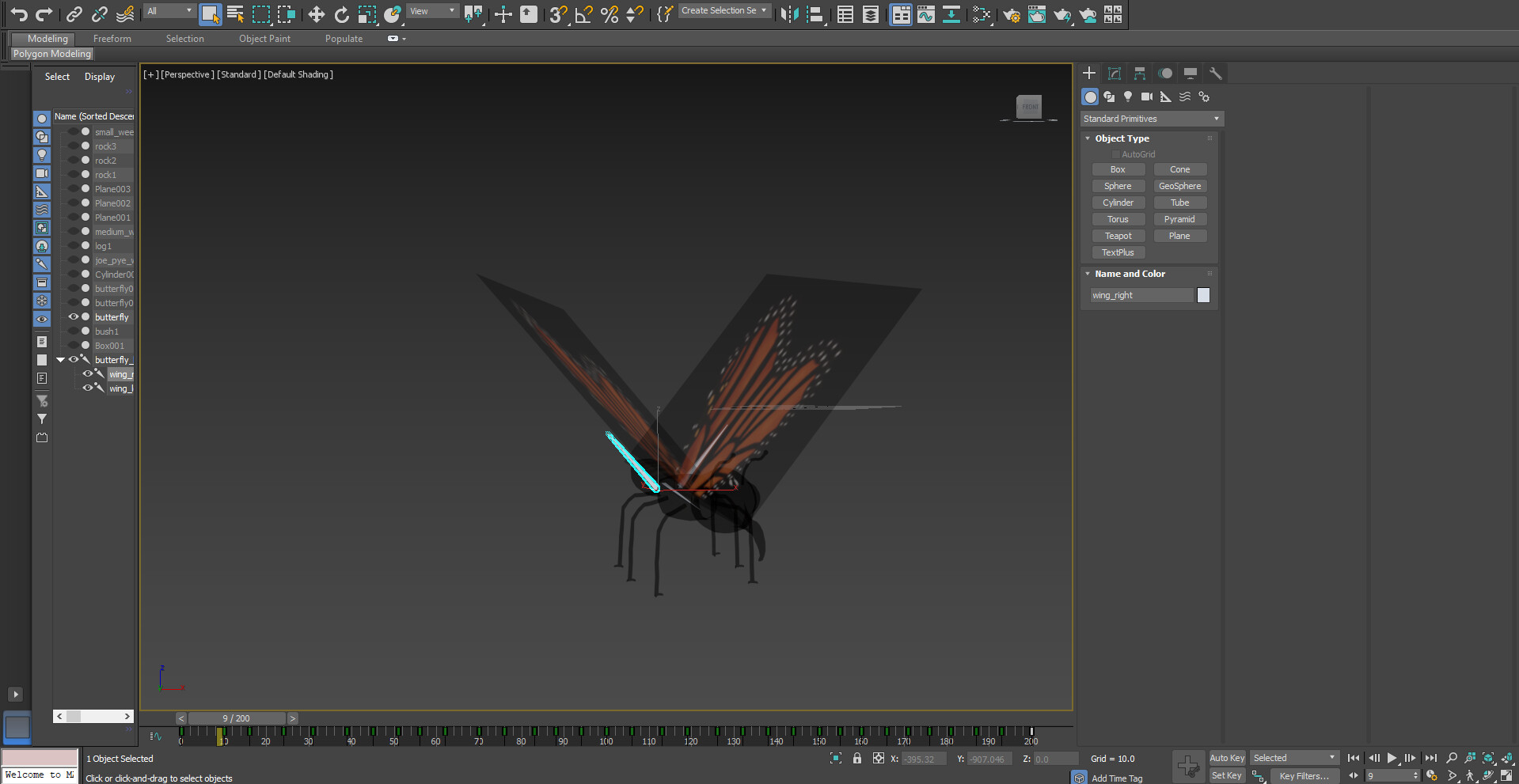 Animating butterfly in 3DSMax